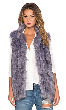 Lovers + Friends x REVOLVE Camille Faux Fur Vest in Grey