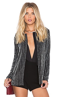 Lovers + Friends SU2C x REVOLVE Pinstripe Jacket in Black