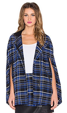 Lovers + Friends Devon Moto Cape in Cobalt