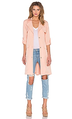 x REVOLVE Midnight Run Coat in Blush