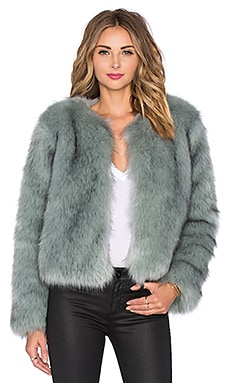 Lovers + Friends x REVOLVE Uptown Faux Fur Coat in Blue