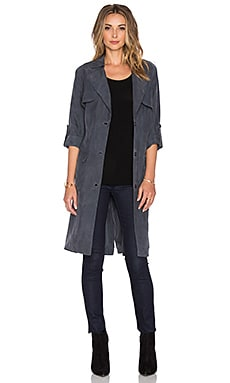 Lovers + Friends Midnight Run Coat in Charcoal
