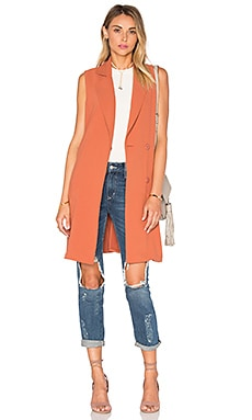 Lovers + Friends Angela Vest in Faded Rust