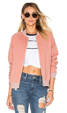 Roadtrippin Bomber Jacket in Nude