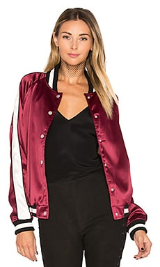 x REVOLVE The Nomad Bomber in Maroon