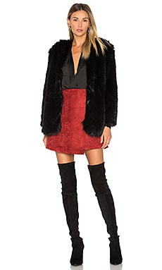 Adora Faux Fur Jacket in Black