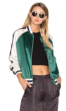 x REVOLVE The Exclusive Bomber in Forest Green