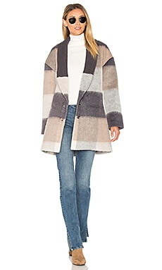Arden Coat en Tan Multi