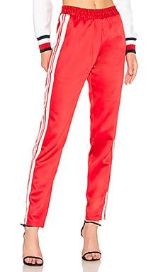 Купить Спортивные брюки с высокой талией tailored track - Lovers + Friends красного цвета