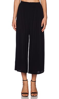 Lovers + Friends Cannes Gaucho Pants in Black