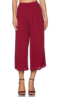 Lovers + Friends Cannes Gaucho Pants in Wine