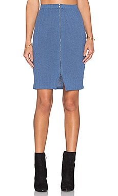Lovers + Friends x REVOLVE Downtown Skirt in Light Blue