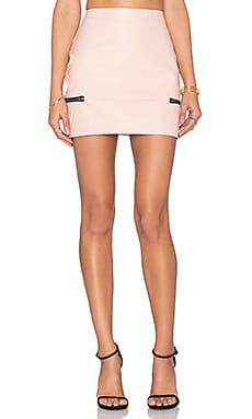 x REVOLVE Good To Be Bad Mini Skirt in Nude