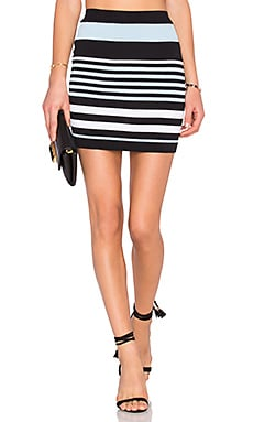 Lovers + Friends Dover Skirt in Multi Stripe
