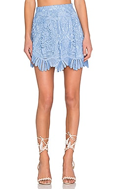 Lovers + Friends Mai Tai Skirt in Crystal Blue