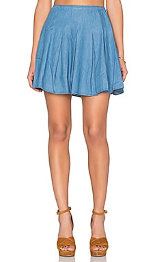 Lovers + Friends High Tide Skirt in Lagoon Blue