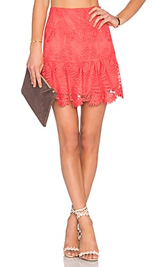 Lovers + Friends Blair Skirt in Coral Reef