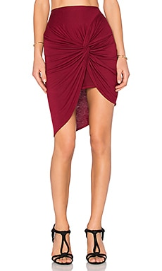 Lovers + Friends x REVOLVE Love Note Skirt in Cabernet