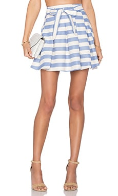 Lovers + Friends High Tide Skirt in Nautical Stripe