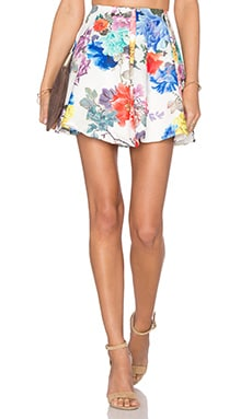 Lovers + Friends x REVOLVE Geneva Flare Skirt in White Floral