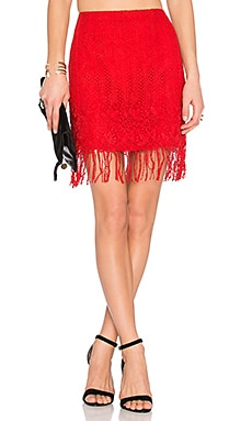 x REVOLVE Cast Away Skirt in Red