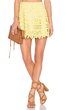 Lovers + Friends Contessa Skirt in Sunshine