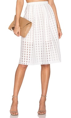 Siesta Midi Skirt in Ivory