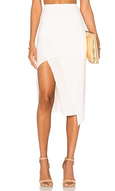 Bridgette Midi Skirt in Ivory