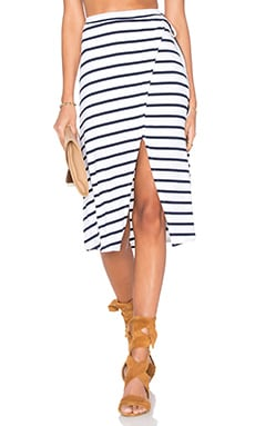 Temptations Skirt in Navy Stripe