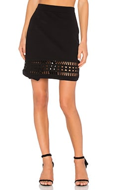 Lovers + Friends Mosaic Skirt in Black