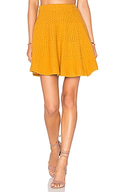 Lovers + Friends Be Flirty Skirt in Marigold
