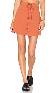 Lovers + Friends Beachwood Skirt in Faded Rust