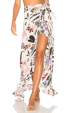 Waves for Days Wrap Skirt Lovers + Friends $138