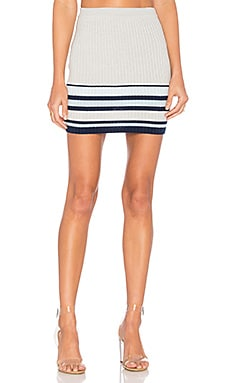 Skye Skirt in Navy Border Stripe