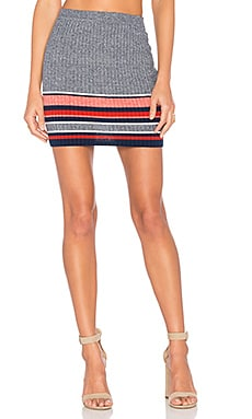 Skye Skirt in Red Border Stripe