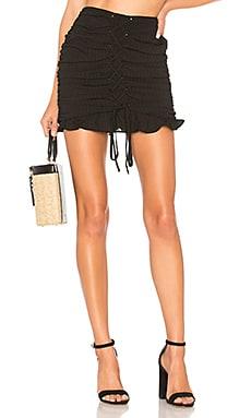 Купить Мини юбка на шнуровке fay - Lovers + Friends черного цвета