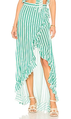 Waves For Days Wrap Skirt Lovers + Friends $53