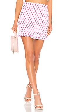 Фото - Облегающая юбка monaco - Lovers + Friends белого цвета