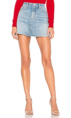 Wyatt Denim Mini Skirt Lovers + Friends $158