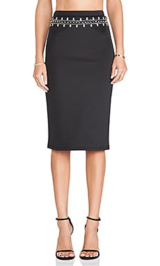 Lovers + Friends Day to Night Pencil Skirt in Black