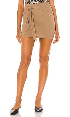 Justina Tie Mini Skirt Lovers + Friends $88