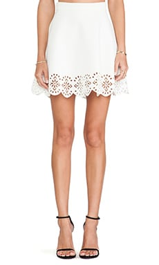 Lovers + Friends Carly Skirt in White
