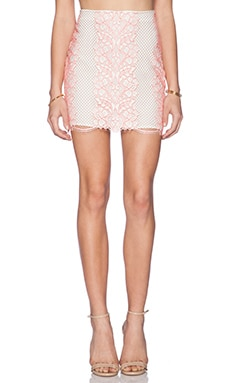 Lovers + Friends Taluca Mini Skirt in Neon Coral