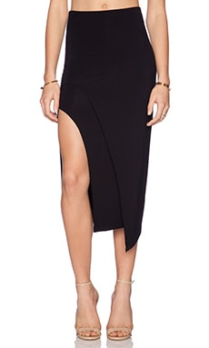 Lovers + Friends Bridgette Midi Skirt in Black