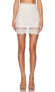 Lovers + Friends Ella Mini Skirt in Ivory