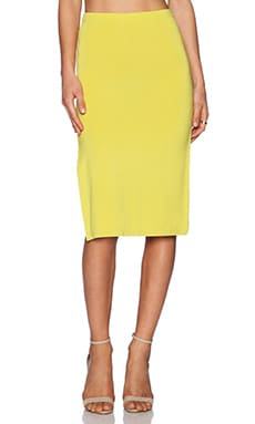 Lovers + Friends Iggy Midi Skirt in Chartreuse