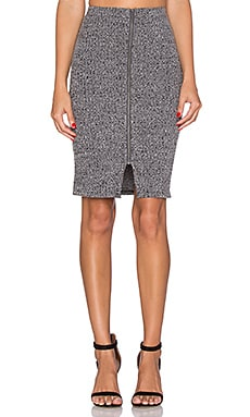 Lovers + Friends Downtown Skirt in Marled Grey