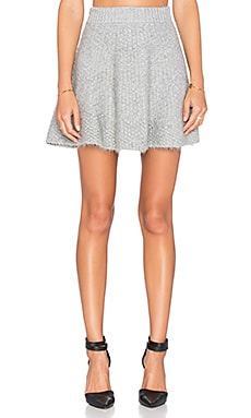Lovers + Friends Be Flirty Skirt in Light Grey