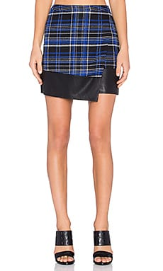 Lovers + Friends Quinn Wrap Skirt in Cobalt