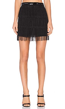 Lovers + Friends Rendezous Skirt in Black